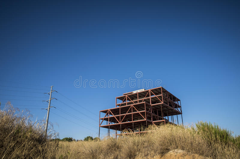 Abandoned offices construction in Sant Cugat del Valles royalty free stock photos