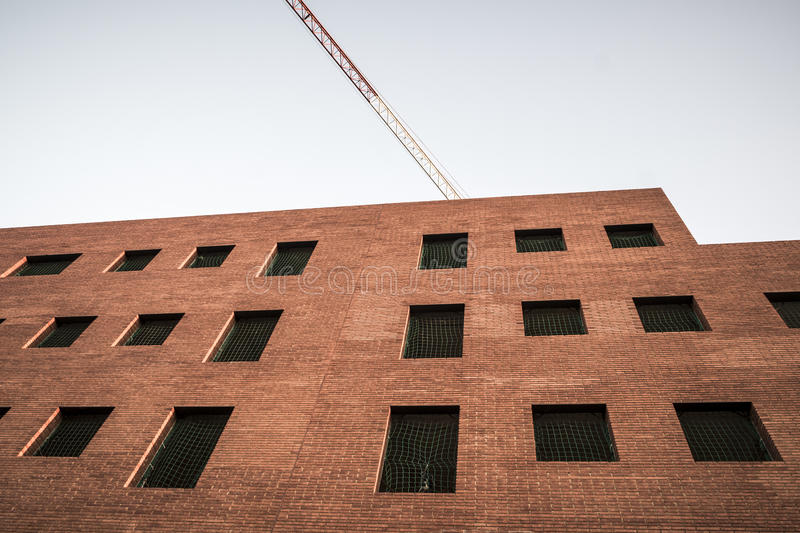 Abandoned offices construction in Sant Cugat del Valles royalty free stock photography