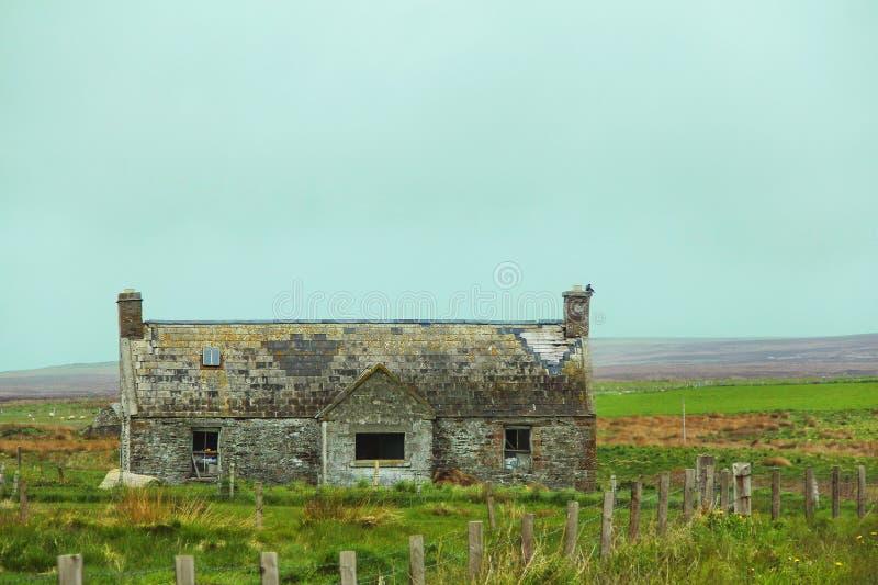 Abandoned old cottage stock photos