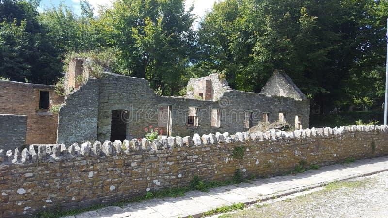 Abandoned old English village royalty free stock photo