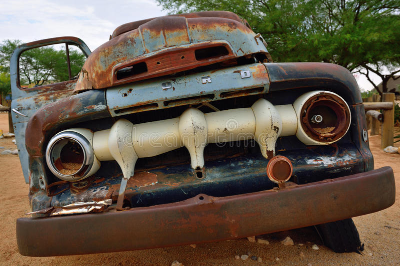 Abandoned old Ford car royalty free stock image