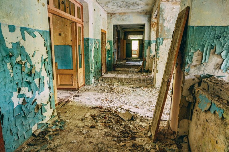 Abandoned Old House Interior. Forsaken building. Abandoned Forsaken Old House Interior. Forsaken building royalty free stock images