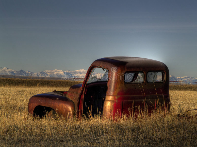 Download An Abandoned Old Pickup stock photo. Image of mountains - 8606140