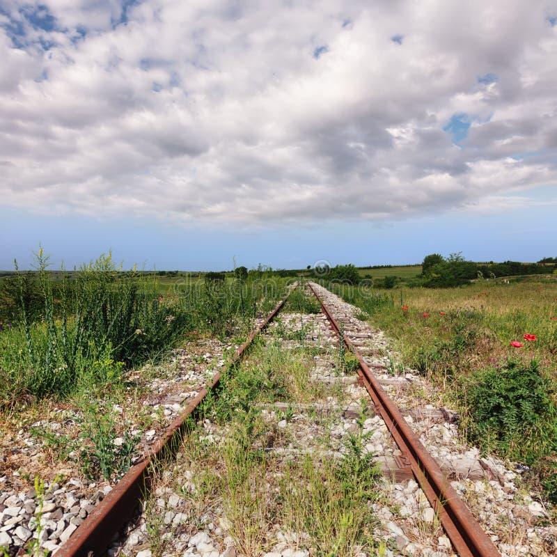 Abandoned old rusty railroad
