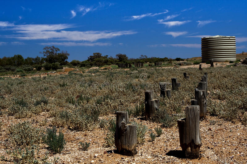 Abandoned old water place. In Flinders Ranges stock image