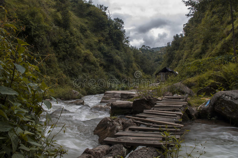 Abandoned. An old, abandoned watermill at Rosikhola, Panauti, Nepal stock photography