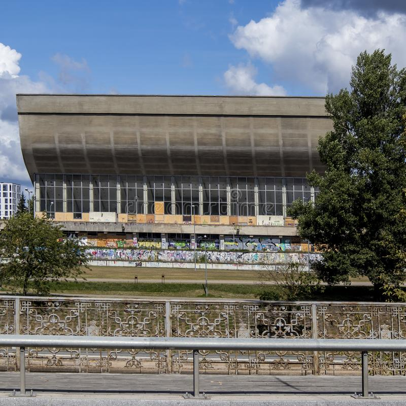Abandoned Palace of Concerts and Sports in Vilnius, Lithuania royalty free stock image