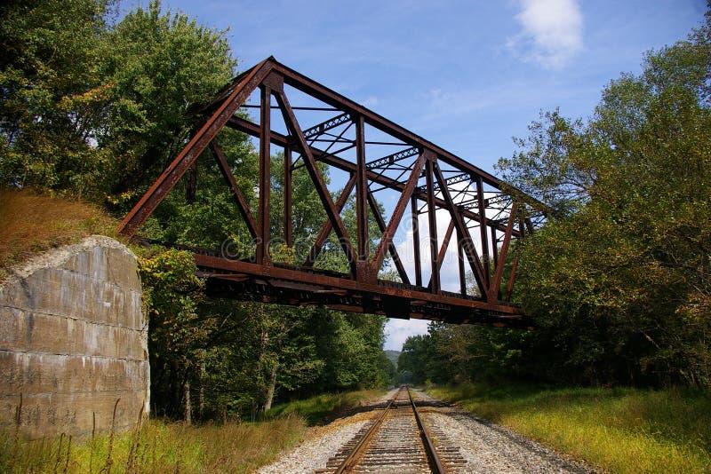 Abandoned Pennsylvania Railroad trestle stock photography