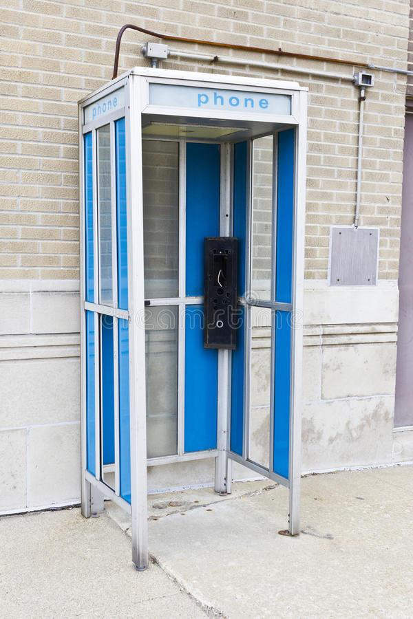 Abandoned Phone Booth II. An Abandoned Phone Booth II stock image