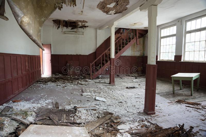Abandoned place in desolate village royalty free stock images