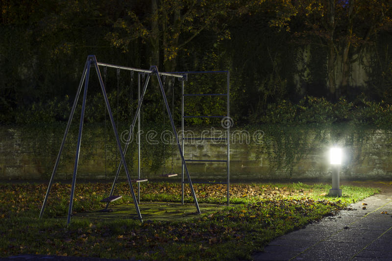Abandoned_playground-1 imagem de stock royalty free