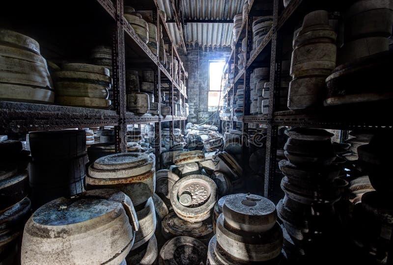 Abandoned pottery stock photo