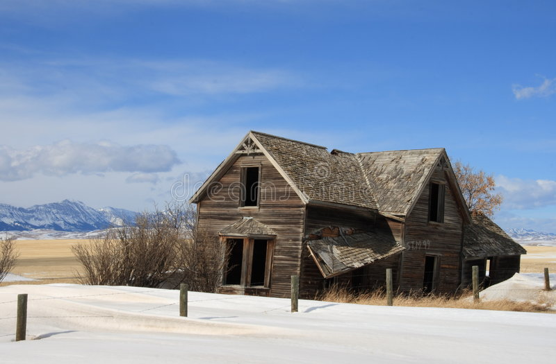 Abandoned on The Prairie royalty free stock photography