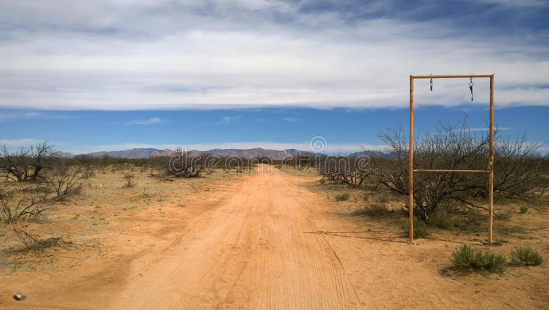An abandoned property in arizona desert royalty free stock photography