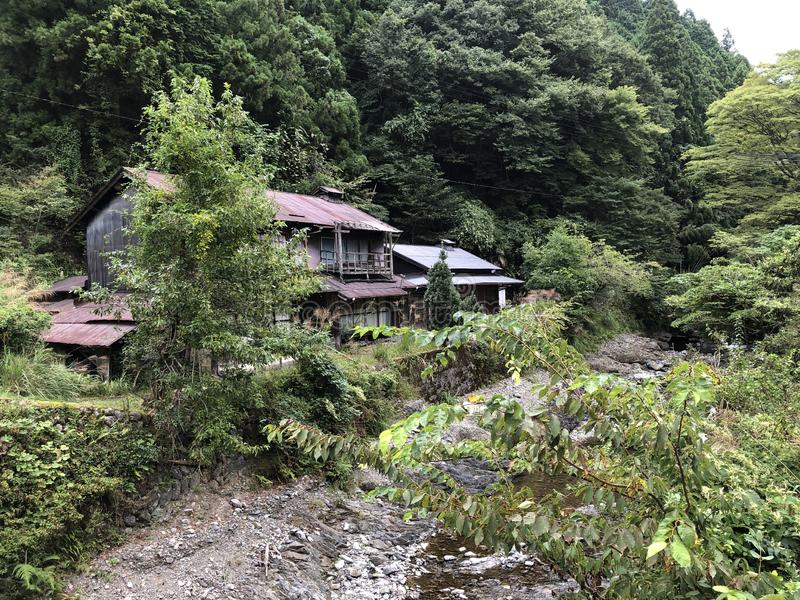 Abandoned property deep in the countryside of Nara prefecture, Japan. royalty free stock photo
