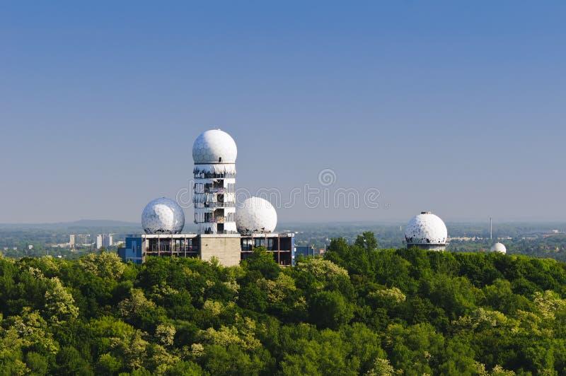 Abandoned radar station berlin stock image