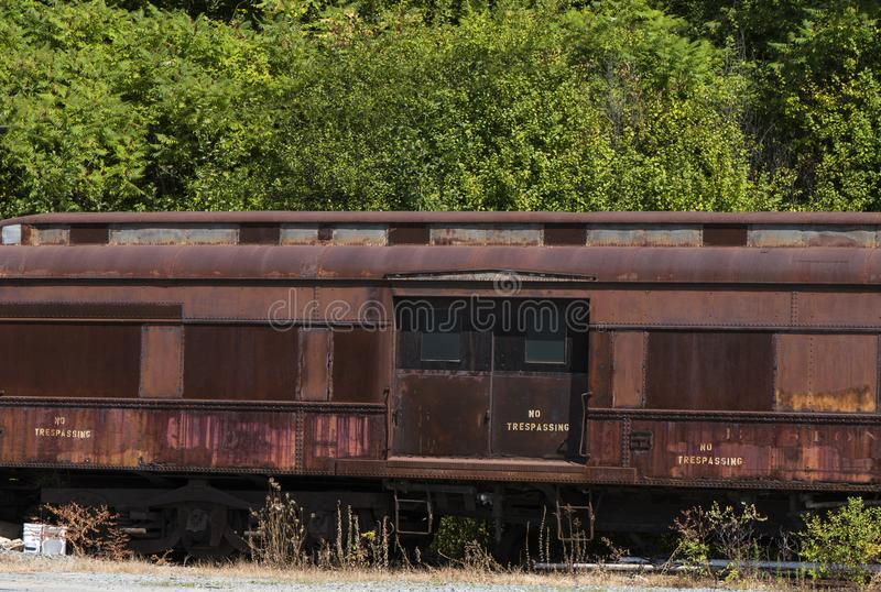 Abandoned Railroad passenger car royalty free stock photo