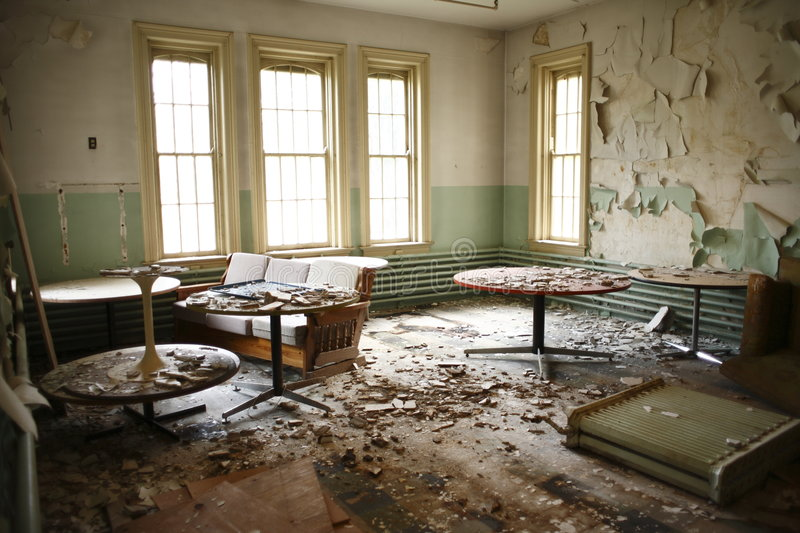 Download Abandoned Recreation Room. Stock Photo - Image: 6826090