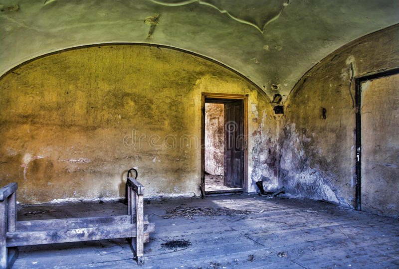 Abandoned room in HDR stock image