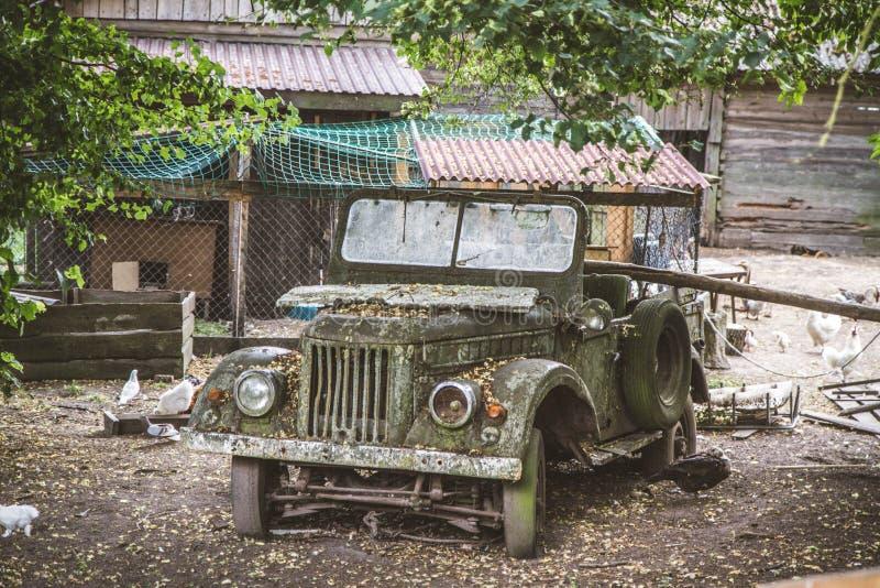Abandoned ruined car royalty free stock image