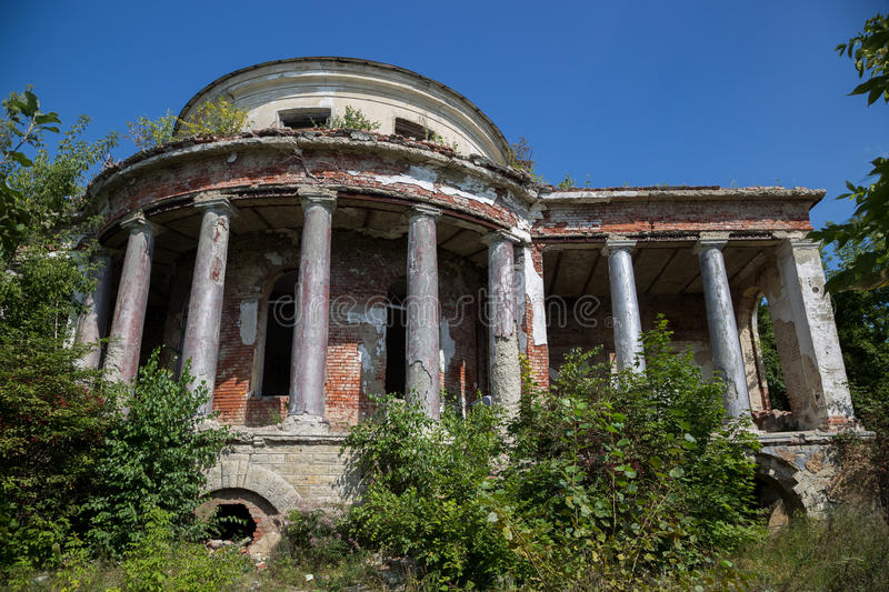 Abandoned ruins of mansion of Earl Voeikov, Penza Region stock photo
