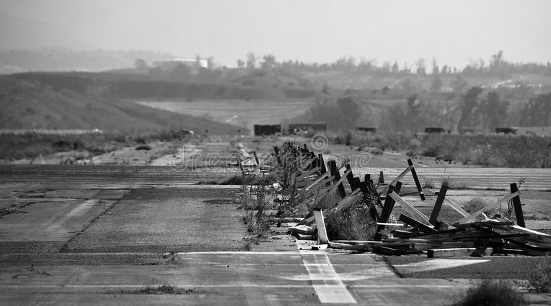 Abandoned Runway royalty free stock photos
