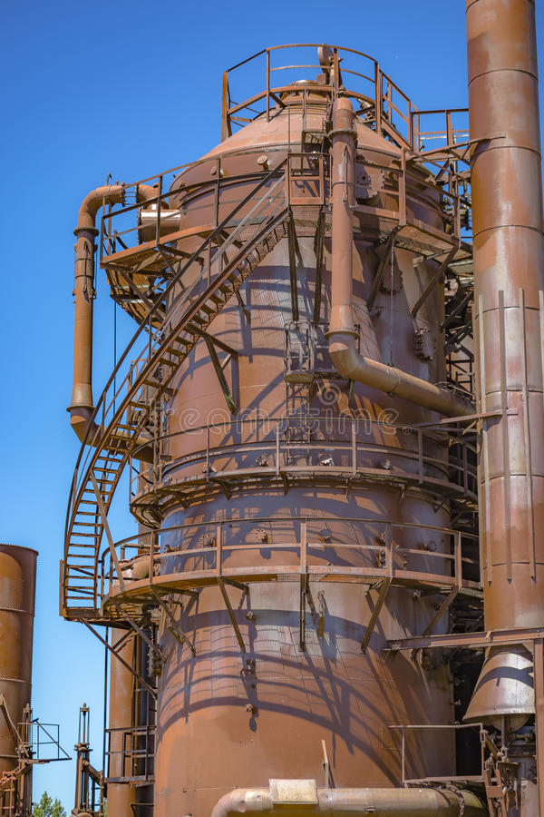 Download Abandoned Rusted Machines And Storage Units In A Gas Industry At Stock Photo - Image & Abandoned Rusted Machines And Storage Units In A Gas Industry At ...
