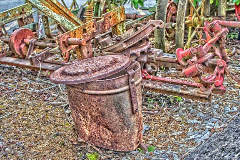 Bucket has seen better days royalty free stock photo