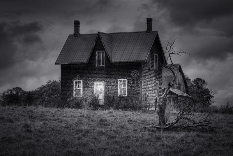 Abandoned Scary Spooky House stock photography