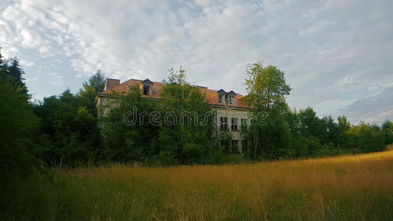 Abandoned School in Poland stock photography