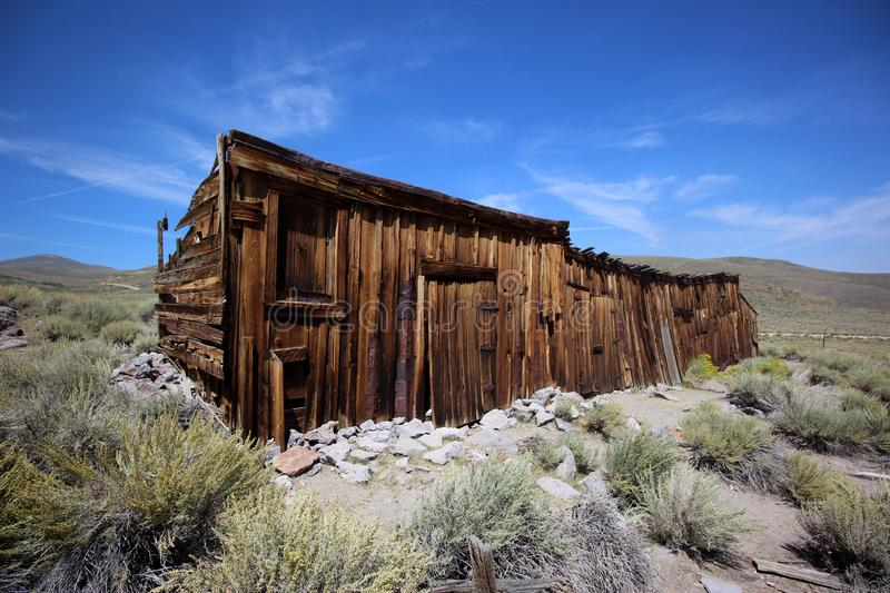 Abandoned Shack in Bodie, California royalty free stock image
