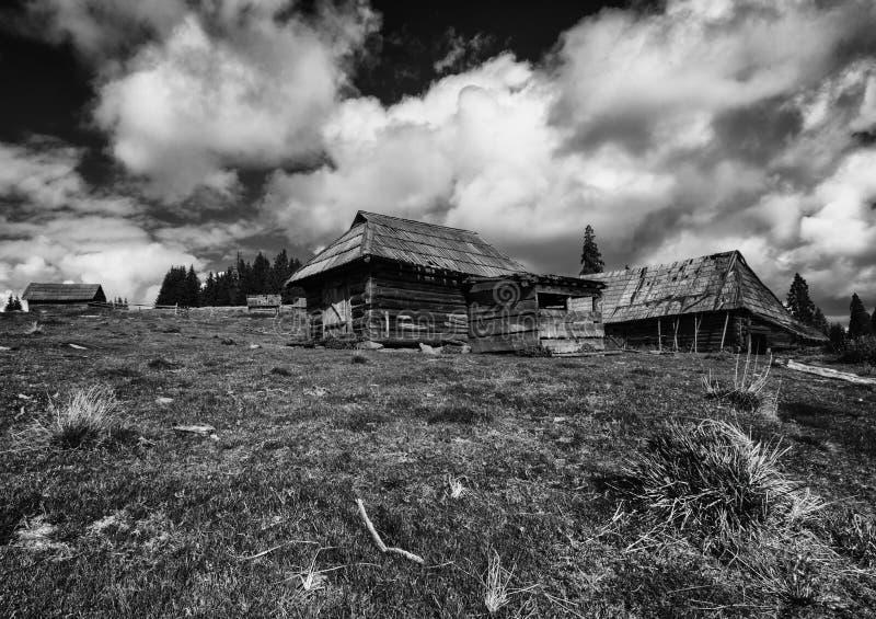 Abandoned sheepfold stock image