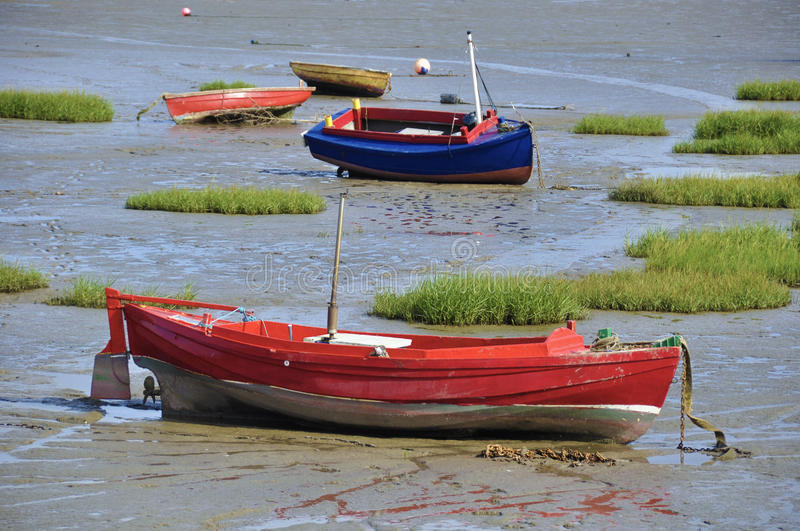 Abandoned small boats royalty free stock images