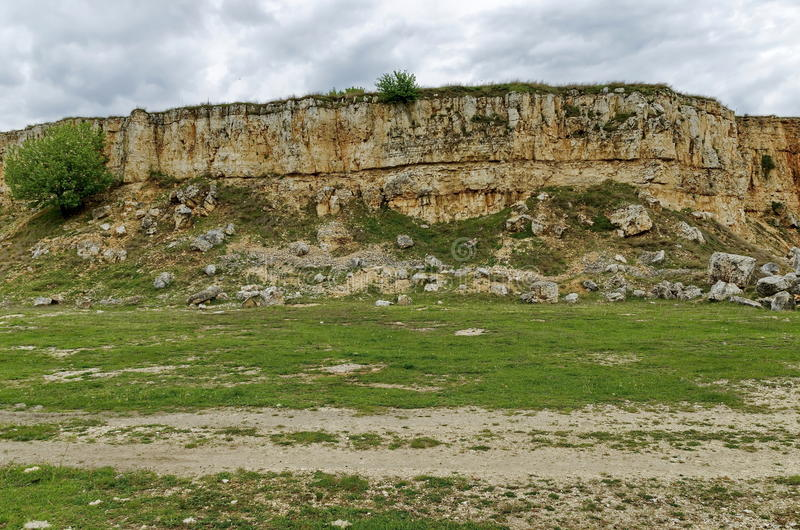 Abandoned stone-pit by Zavet town area. Bulgaria royalty free stock photography