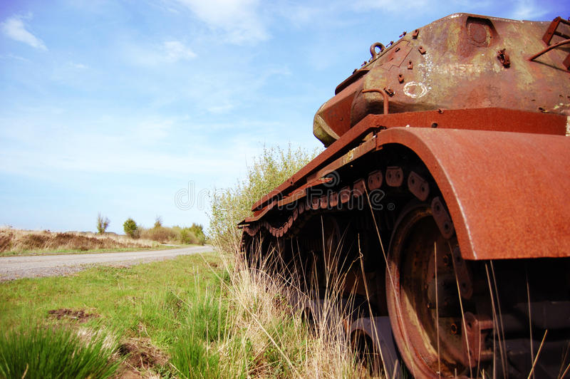 Abandoned Tank royalty free stock images