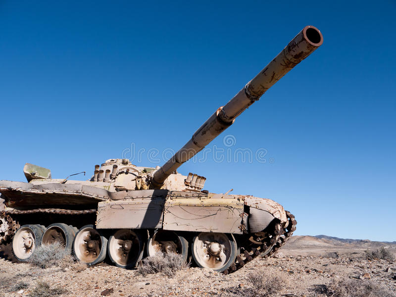 Download Abandoned Tank In The Desert Stock Image - Image: 18073783