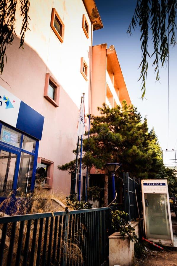Telecommunication Room Design: Abandoned Telecommunications Building Editorial Photo