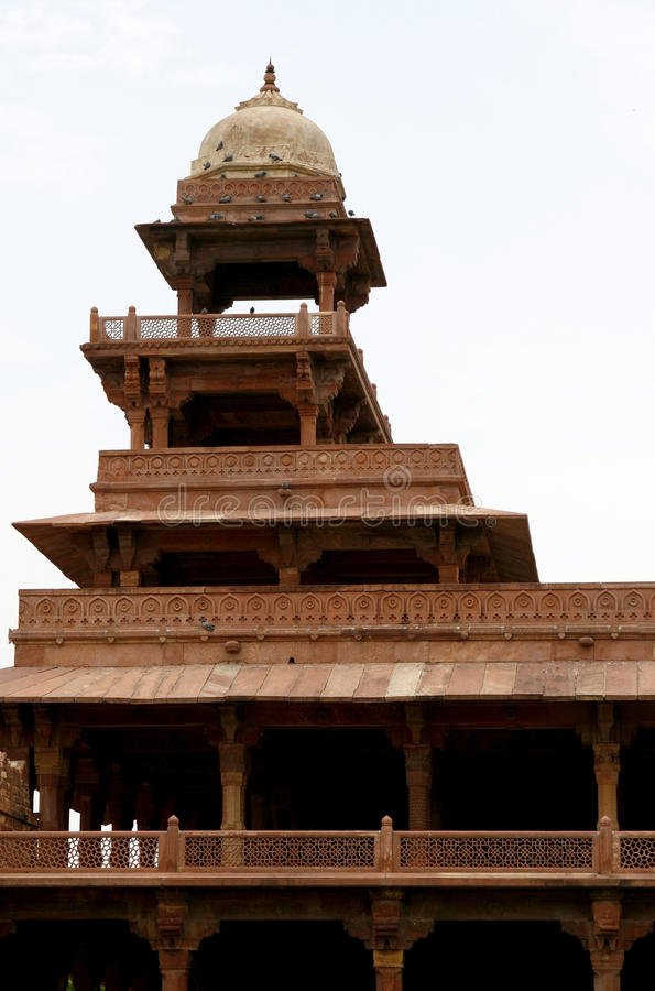 Abandoned temple in Fatehpur Sikri complex, India royalty free stock photography