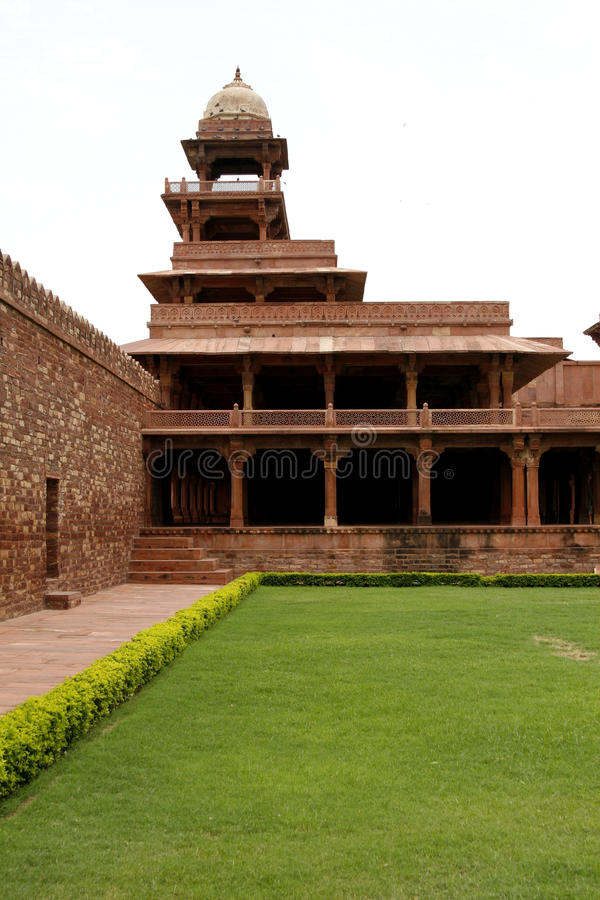 Abandoned temple in Fatehpur Sikri complex, India stock photo