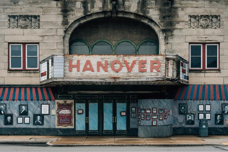 The abandoned theater in Hanover, Pennsylvania royalty free stock photo