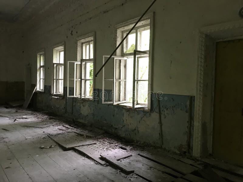 Abandoned theater. Near Chernobyl Ukraine royalty free stock photography