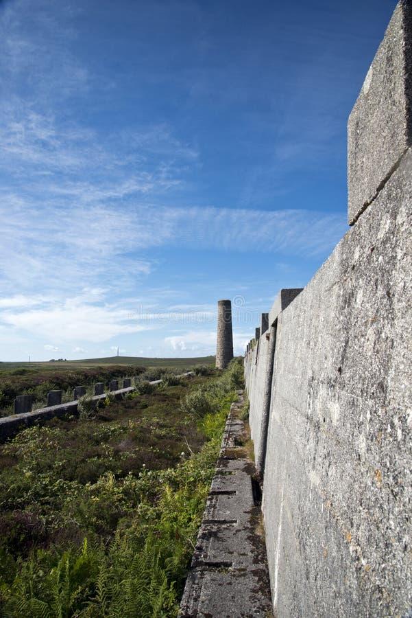 Abandoned Tin Mine, Cornwall stock images