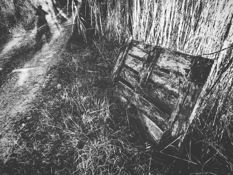 Abandoned track stock photography
