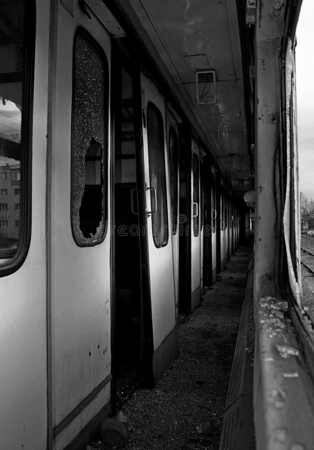 Abandoned train stock photos