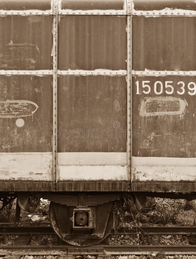 An Abandoned Train S Bogie Stock Images