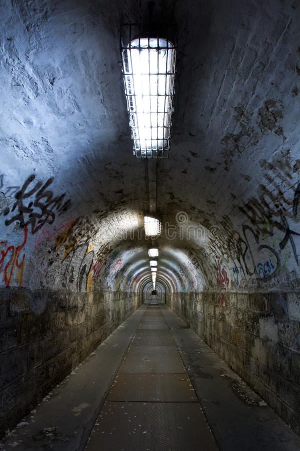 Abandoned tunnel stock photography