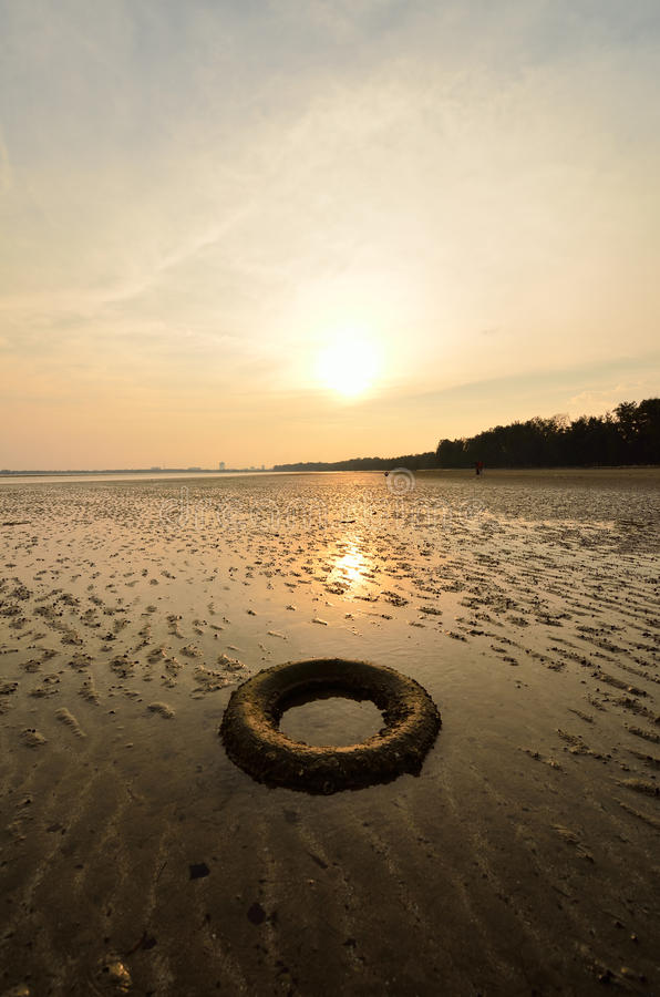 Download Abandoned tyre stock photo. Image of lake, rust, material - 33633646