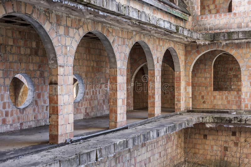 download abandoned unfinished construction of the castle stock photo image of bricks arch