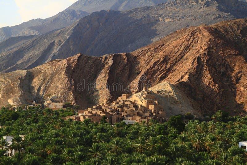 Abandoned Village Birkat Al-Mawz stock image