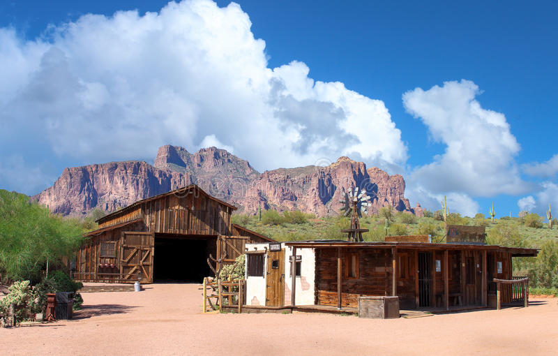 Abandoned Wild West town royalty free stock photo